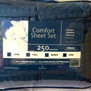 New King comfort sheet set never opened!